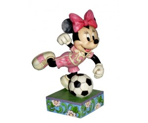 Minnie Soccer - Heartwood Jim Shore Disney Tradition