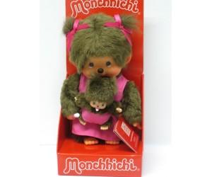 Maman Rose avec Bébé Monchhichi