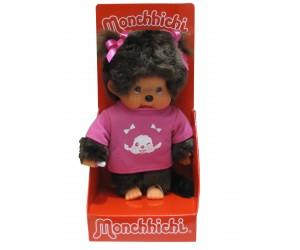 Fille avec T-Shirt Rose - Monchhichi