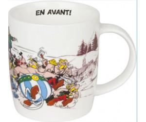 """Mug """"En Avant"""" Obelix and Asterix"""