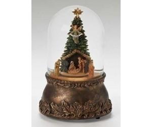 Nativité dans le Sapin Boule à Neige Musicale