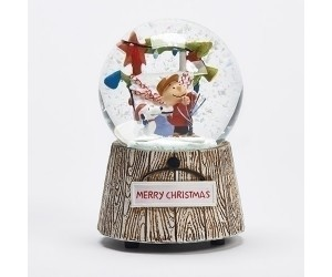Charlie Brown and Snoopy Christmas Snowglobe