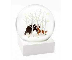 Bear and Fox Snow Globe CoolSnowGlobes