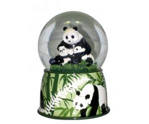 Pandas - Boule à Neige Musicale