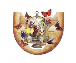 Cage et Papillons Pnr057