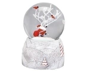 Père Noël et Arbre Blanc Boule à Neige Musicale