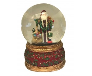 Père Noël et Casse-Noisette Boule à Neige Musicale