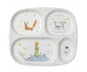 Assiette à compartiments Le Petit Prince de St-Exupéry