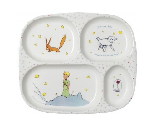 Compartments Plate The Little Prince St-Exupery