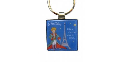 Porte-clé Bleu Le Petit Prince et la Tour Eiffel