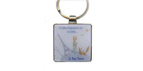 Porte-clé Blanc Le Petit Prince et Le Renard