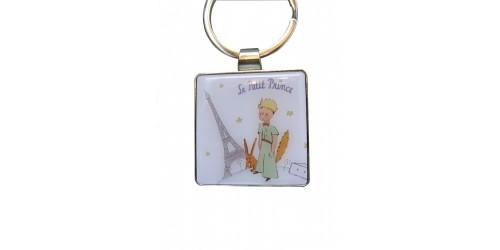Porte-clé Blanc Tour Eiffel Le Petit Prince et Le Renard
