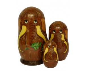 142 - Matryoshka Mammoth Russian Nesting Dolls