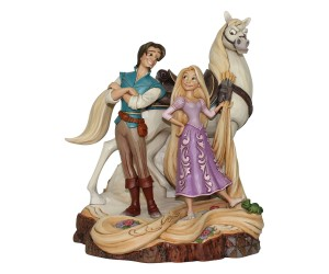 Raiponce, Flynn et Maximus Jim Shore Heartwood Disney Tradition