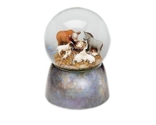 Crèche - Animaux - Boule à Neige Musicale