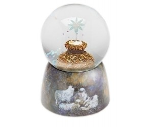 Baby Jesus - Musical Snowglobe