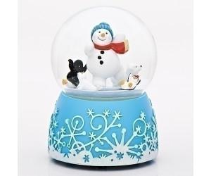 Bonhomme de Neige et Animaux - Boule à Neige Musicale