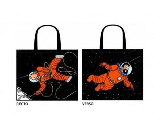 Sac Réutilisable Tintin et Haddock Astronautes