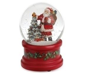 Père Noël et Sapin Boule à Neige Musicale
