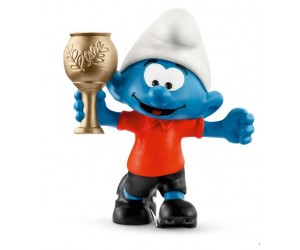 Football Smurf with Trophy