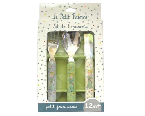 Set de 3 Couverts pour Bébé - Le Petit Prince de St-Exupéry
