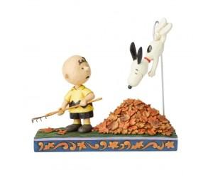 Snoopy et Les Feuilles D'Automne Peanuts Jim Shore