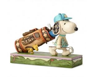 Snoopy Golfer Peanuts Jim Shore