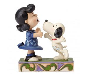 Snoopy et le Baiser à Lucy - Figurine Heartwood Jim Shore