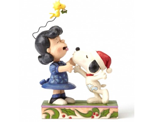 Snoopy Embrasse Lucy avec Woodstock Peanuts Jim Shore