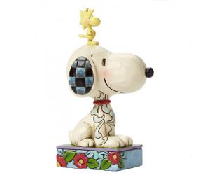 Snoopy et Woodstock sur la Tête - Figurine Heartwood Jim Shore