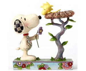 Snoopy et Woodstock dans son nid - Jim Shore Peanuts