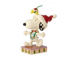 Snoopy et Woodstock à Noël Peanuts Jim Shore