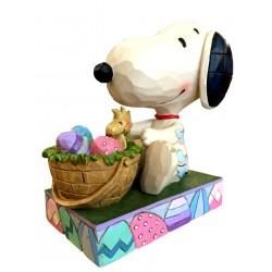 Snoopy et Panier de Pâques - Figurine Heartwood Jim Shore