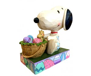 Snoopy and Easter Basket - Heartwood Jim Shore Figurine