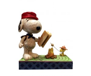 Snoopy and Woodstock at Fire Camp