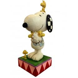 Snoopy et Famille de Woodstock - Figurine Heartwood Jim Shore