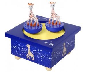 Sophie la Girafe Bleue Boîte à Musique Patinoire