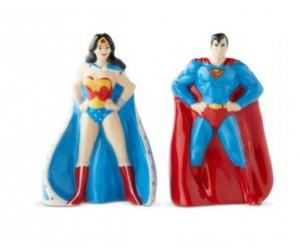 Superman et Wonder Woman Salière et Poivrière