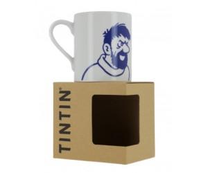 Tasse Haddock Blanche et Bleu - Produit Tintin