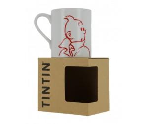 Tasse Tintin Blanche et Rouge - Produit Tintin