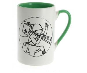 Tasse Tintin Cinéaste Verte