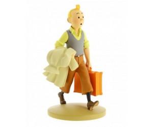 Tintin en Route  - Figurine Tintin en résine