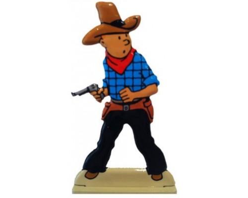 Tintin Cowboy - Figurine en Métal