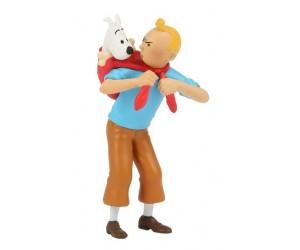 Tintin avec Milou en PVC
