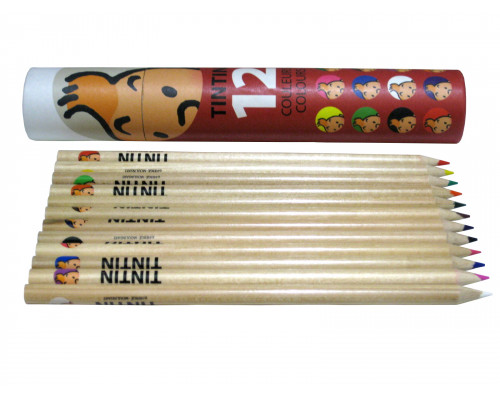 Crayons de Couleur - Boîte Rouge - Tintin