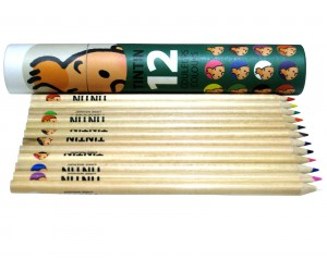 Coloring Pencils - Green Box - Tintin