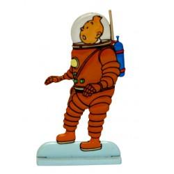 Astronaute - Figurine de Tintin en métal
