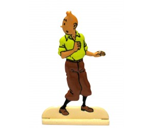 Le Secret de La Licorne Figurine de Tintin en Métal