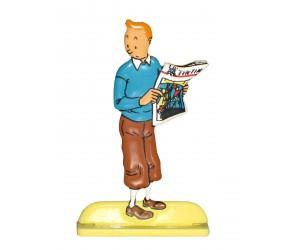 Journal - Figurine de Tintin en Métal
