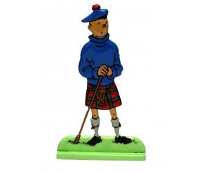 L'île Noire - Figurine Tintin en Métal